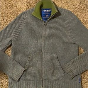 Gray Abercrombie & Fitch zip up sweater XL